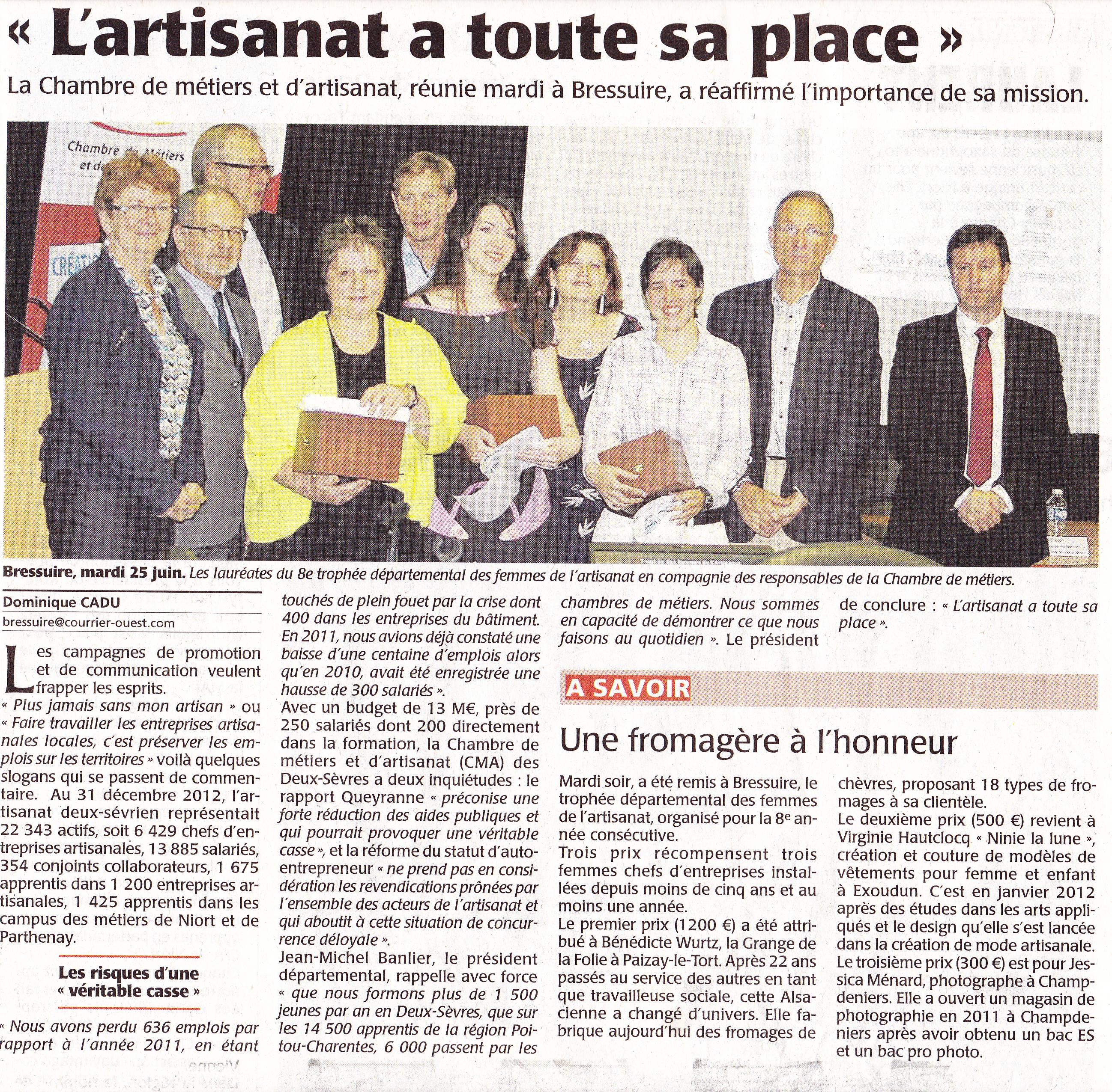 You are currently viewing 3ème prix Trophée des femmes de l'artisanat 79